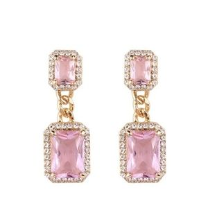 🎀18k Vintage Style 2 Teir Pink Sapphire Earings